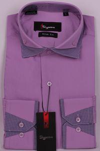 Изображение Молодежная рубашка с двойным воротником