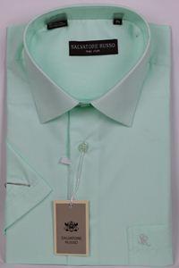 Изображение Классическая однотонная светло салатовая рубашка
