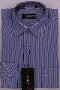 Изображение Рубашка в полоску с декоративным воротником
