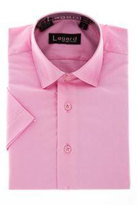 Изображение Детская однотонная розовая рубашка