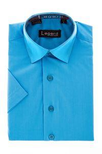 Изображение Детская однотонная бирюзовая рубашка