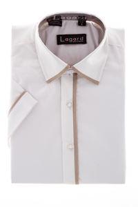 Изображение Рубашка однотонная с окантовкой по краю воротника