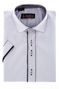Изображение Рубашка однотонная белая с декоративной планкой