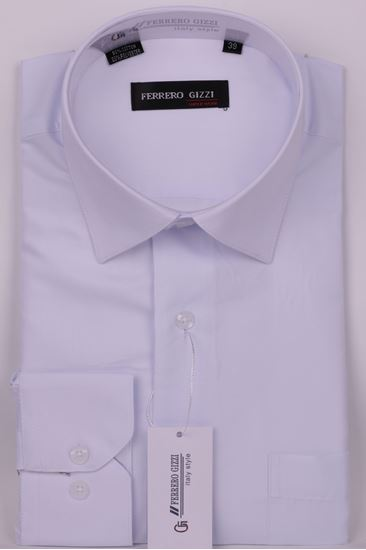 Изображение Классическая однотонная белая рубашка