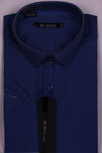 Изображение Молодежная однотонная синяя рубашка