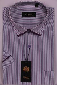 Изображение Классическая рубашка в полоску с окантовкой по краю воротника