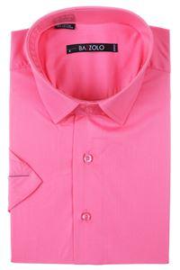 Изображение Молодёжная однотонная рубашка с коротким рукавом