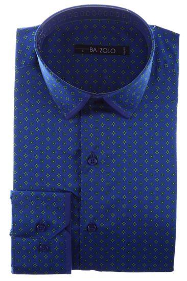 Изображение  Приталенная рубашка в мелкий узор