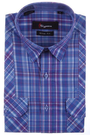 Изображение Молодежная рубашка в синюю клетку