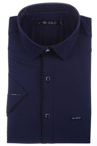 Изображение Молодежная однотонная рубашка с окантовкой