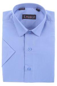 Изображение Детская однотонная голубая рубашка