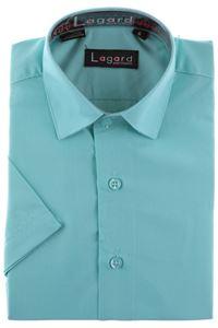 Изображение Детская однотонная зеленая рубашка