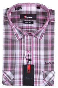 Изображение Молодежная рубашка в клетку, короткий рукав