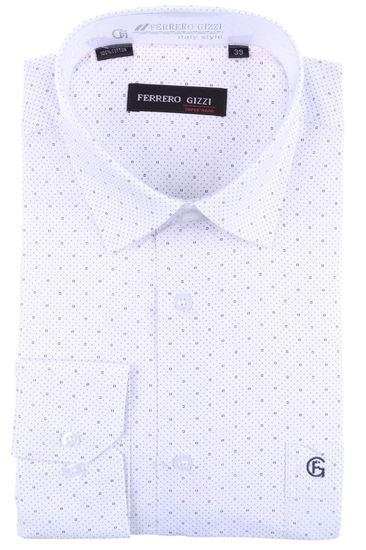 Изображение Классическая рубашка в мелкий узор с длинным рукавом