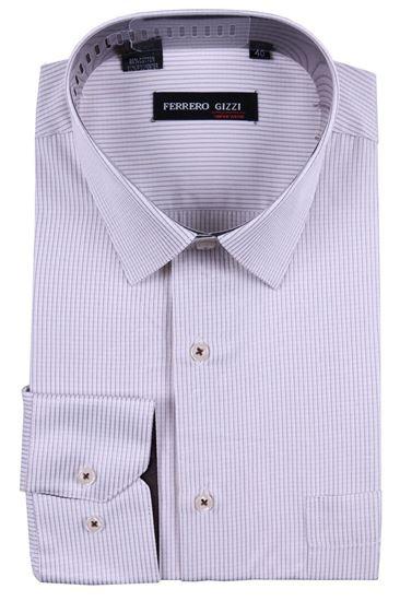 Изображение Классическая рубашка в клетку с длинным рукавом