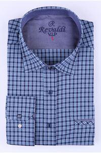Изображение Рубашка классическая с синю клетку (Арт.T. 2888)