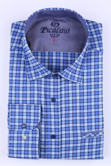 Изображение Рубашка классическая  в синюю клетко (Aрт. 2877)