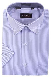 Изображение Мужская рубашка классика в полоску, короткий рукав