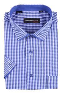 Изображение Классическая мужская рубашка с коротким рукавом