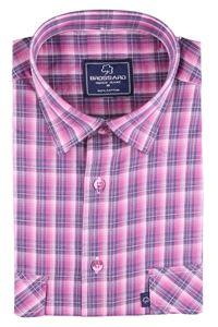 Изображение Классическая мужская хлопковая рубашка с коротким рукавом